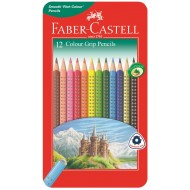 Faber-Castell Grip Colour Pencils In Tin 12's