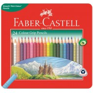 Faber-Castell Junior Grip Colour Pencils In Tin 24's