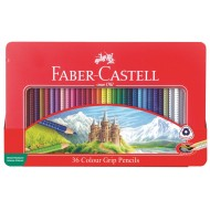 Faber-Castell Junior Grip Colour Pencils In Tin 36's