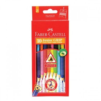 Faber-Castell Junior Grip Colour Pencils 10's