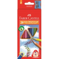 Faber-Castell Junior Triangular Colour Pencils 20's