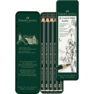 Faber-Castell 9000 Jumbo Drawing Pencil 5's