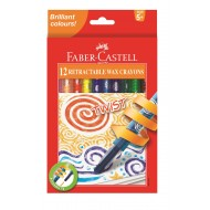 Faber-Castell Twist Retractable Crayons 12's