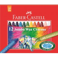 Faber-Castell Jumbo Wax Crayons 12's