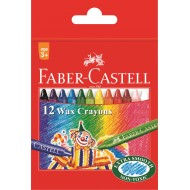 Faber-Castell Slim Wax Crayons 12's