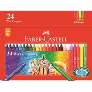 Faber-Castell Slim Wax Crayons 24's