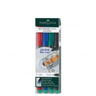 Faber-Castell Fine Point Permanent Marker 4's