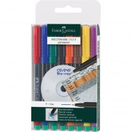 Faber-Castell Fine Point Permanent Marker 8's