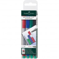 Faber-Castell Fine Point Non-Permanent Marker 4's