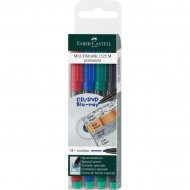 Faber-Castell Medium Point Permanent Marker 4's