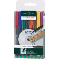 Faber-Castell Medium Point Permanent Marker 8's