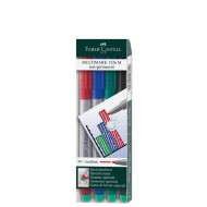 Faber-Castell Medium Point Non-Permanent Marker 4's