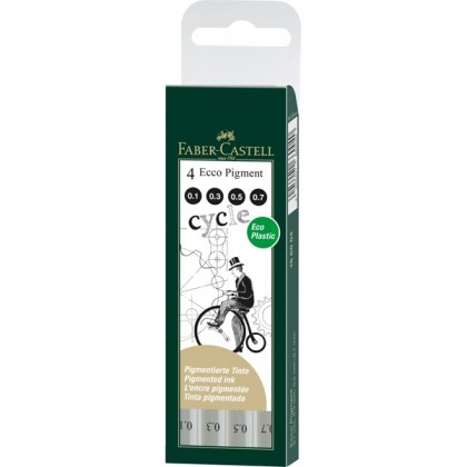 Faber-Castell Ecco Pigment Drawing Pens 4's