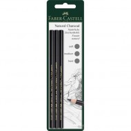 Faber-Castell Pitt Natural Charcoal Pencil 3's