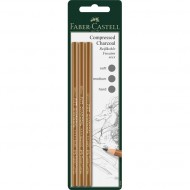 Faber-Castell Pitt Compressed Charcoal Pencil 3's