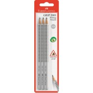 Faber-Castell Grip Blacklead Pencil HB 3's