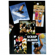 Croxley 60 Page Scrap Blue Page Book