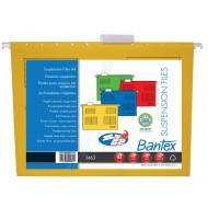 Bantex A4 Suspension Files 10's Yellow