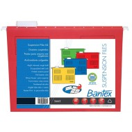Bantex A4 Suspension Files 10's Red