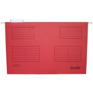 Bantex Foolscap Suspension Files 25's Red