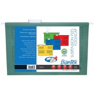 Bantex Foolscap Suspension Files 10's Green