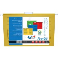 Bantex Foolscap Suspension Files 10's Yellow