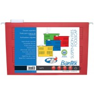 Bantex Foolscap Suspension Files 10's Red