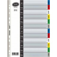 Bantex A4 PP Index Tabs Jan - Dec