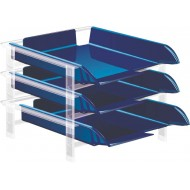 Bantex Vision Letter Tray Blue