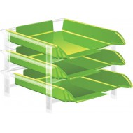 Bantex Vision Letter Tray Lime Green