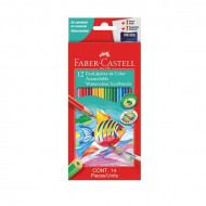 Faber-Castell Eco Aquarelle Colour Pencils 12's