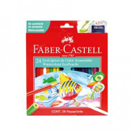 Faber-Castell Eco Aquarelle Colour Pencils 24's