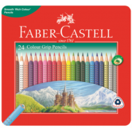 Faber-Castell Grip Colour Pencils 24's In Tin