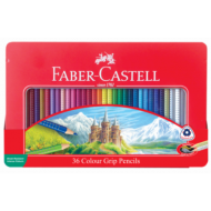 Faber-Castell Grip Colour Pencils 36's In Tin