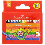 Faber-Castell Wax Crayons 12's