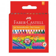 Faber-Castell Wax Crayons 24's