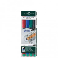 Faber-Castell Fine Permanent Marker 4's