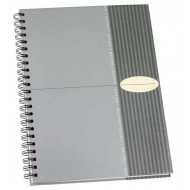 Bantex A4 Hard Cover Spiral Bound Note Book Grey