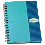 Bantex A5 Hard Cover Spiral Bound Note Book Blue