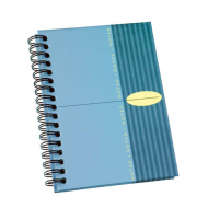 Bantex A6 Hard Cover Spiral Bound Note Book Blue
