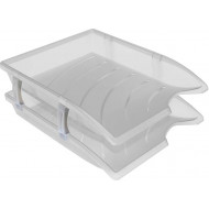 Bantex Optima Letter Tray 2's Clear