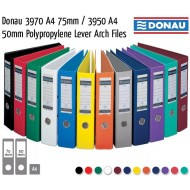 Donau A4 75mm PP Lever Arch File Turquoise