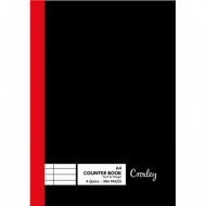 Croxley 4-Q 384 Page Feint & Margin Counter Book