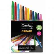 Croxley Create Retractable Wax Crayons 12's