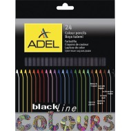 Adel Blackline Colour Pencils 24's