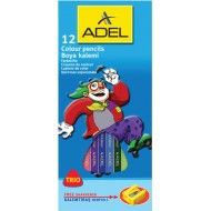 Adel Trio Colour Pencils 12's