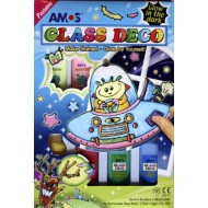 Amos Glow In The Dark Glass Deco