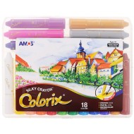 Amos Colorix 3 In 1 Crayons 18's