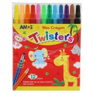 Amos Twister Retractable Crayons 12's