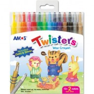 Amos Twister Retractable Crayons 14's